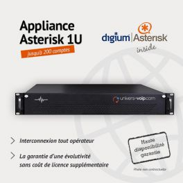 Appliance Asterisk 1U - 200 Comptes - Haute disponibilité