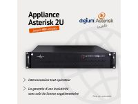 Appliance Asterisk-FreePBX 2U - 400 Comptes