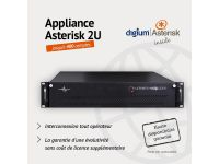 Appliance Asterisk-FreePBX 2U - 400 Comptes - Haute disponibilité